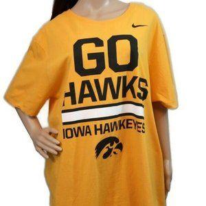 Nike Iowa Hawkeyes Tee Shirt 2XL Gold Black Cotton